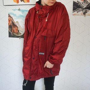 Red men's Sperry rain Anorak jacket Small